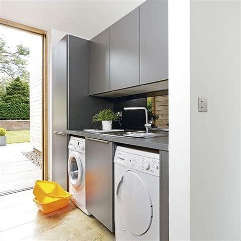 Kitchen Design Ideas For Small Kitchens - modern grey utility room kitchen designs bespoke kitchens beautiful kitchens housetohome