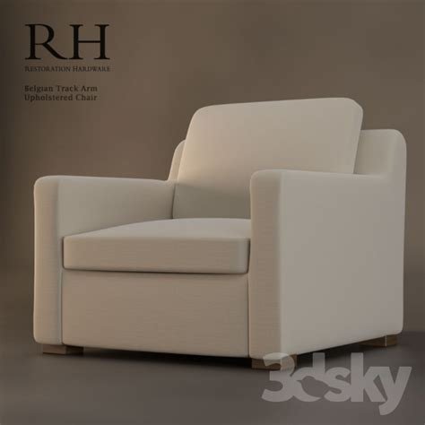 3d models arm chair restoration hardware belgian track