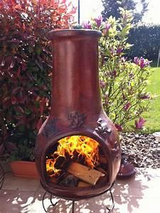 vente en ligne de brasero mexicain cheminee barbecue With poele a bois exterieur en terre cuite