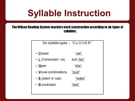the wilson reading system 1