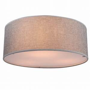 Lampe Grau Stoff : luxus decken leuchte stoff schirm lampe wohn ess zimmer beleuchtung grau 40cm ebay ~ Indierocktalk.com Haus und Dekorationen