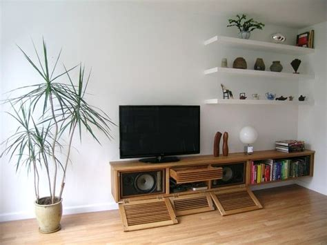 Schrank Wohnzimmer Holz by Best 25 Floating Media Cabinet Ideas On