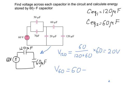 Finding Voltage Across Capacitors The Electric Circuit
