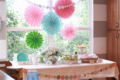 Shower Decorations Table Serving Drink