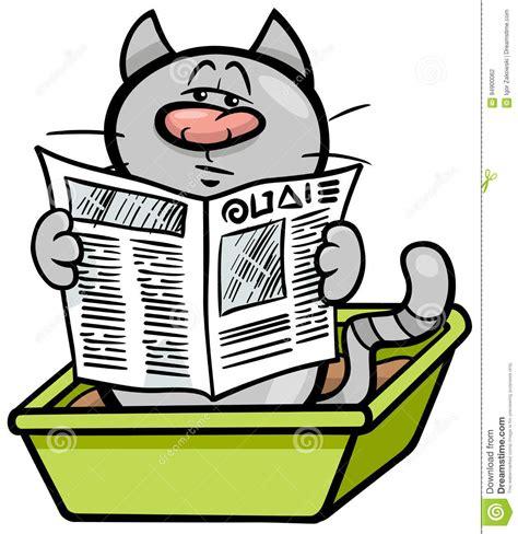 Cat In Litter Box Cartoon Stock Vector Illustration Of