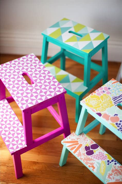 table plus chaise diy wallpaper stools this this