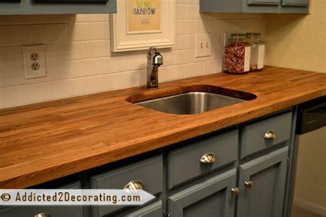 green tile kitchen backsplash butcher block countertops from ikea on the cheap