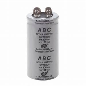 Ac 125v 300uf 300mfd 2 Terminals Polypropylene Film Motor