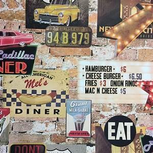 American Diner Wallpaper : arthouse american diner wallpaper wall paper american diner 1950s diner dining ~ Orissabook.com Haus und Dekorationen
