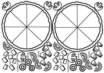 pizza worksheet    art teacher tpt