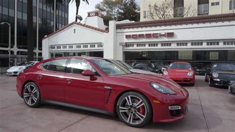 New 2013 Porsche Panamera Gts In Carmine Red Cognac
