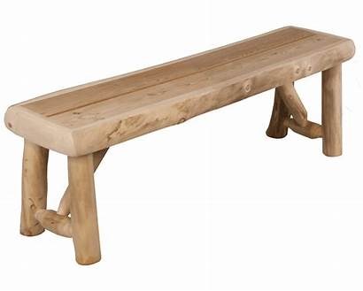 Bench Log Outdoor Aspen Rustic Benches Furniture