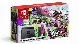 Splatoon 2 Switch bundle s colorful with pink and green