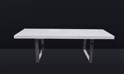 aa  extendable white dining table black design