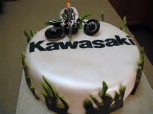 Kawasaki Motorcycle Happy Birthday Cake
