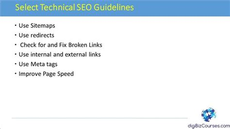 Seo Guidelines by Technical Seo Search Engine Optimization Tips And