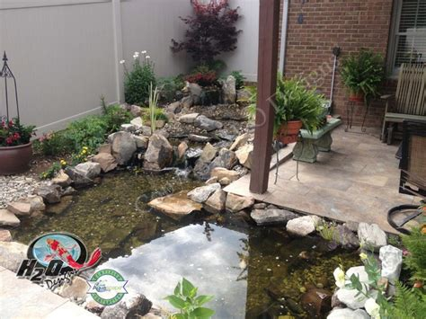 small fish pond designs koi pond backyard pond small pond ideas for your kentucky landscape louisville by h2o designs