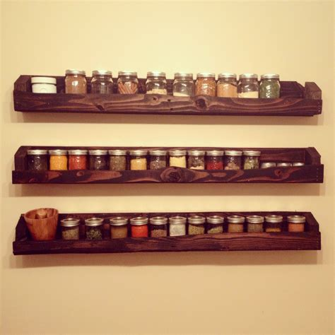 Spice Rack And Jars by Pallet And Jar Spice Rack D 233 Co