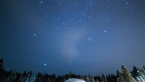 Night Sky Of Stars Time Lapse Milky Way And Glow Above