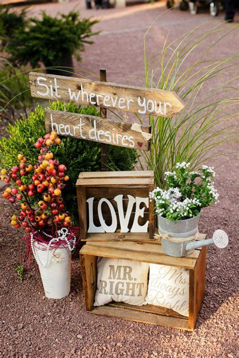 65 Rustic Outdoor Wedding Decorations Ideas On A Budget