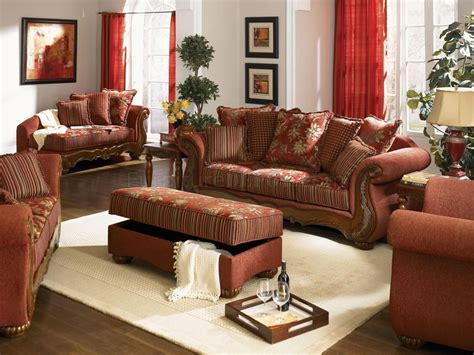 chenille fabric traditional living room savona  red