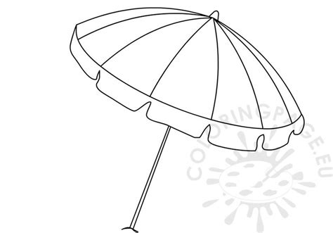 summer colouring pages open rainbow beach umbrella coloring page