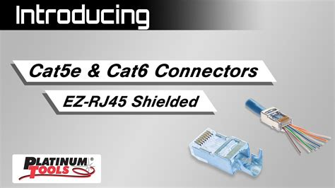 Cat 6 Wiring Diagram With Load Bar by Introducing Cat5e Cat6 Connectors Ez Rj45 Shielded