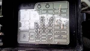 1991 Chevy Blazer Fuse Diagram