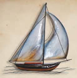 metal sailboat wall sculpture sailing decor sail boat