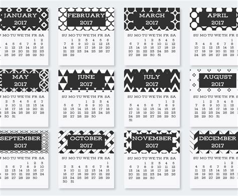 Cute 2017 Pocket Calendar Collection Vector Art & Graphics Business Letter Intro Example Sample Plan Bed And Breakfast Plans For Hair Beauty Salon Cards Printing West Rand Restaurants Appointment Uber Wembley