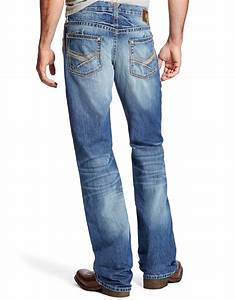 Ariat Menu0026#39;s M6 Low Rise Slim Fit Boot Cut Jeans - Dakota