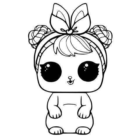 Lol Pets Kleurplaat by Leuk Voor L O L Dolls Pets Kleurplaat