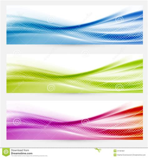 Bright Swoosh Lines Headers Footers Templates Stock Vector