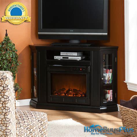 Black Electric Fireplace Media Tv Stand Corner Or Flat