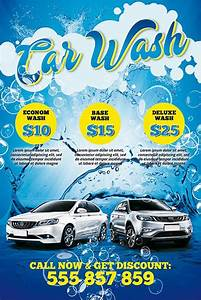 download the car wash free psd poster template With car wash poster template free