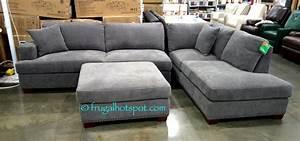 Costco bainbridge 3 pc fabric sectional 89999 frugal for 3 piece sectional sofa costco