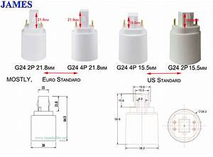 Gx24 To E26  U0026 E27 Adapter 4 Pin Cfl To Led Conversion