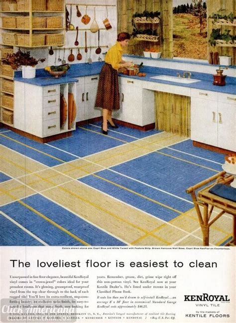 Vintage home style: Vinyl floor tile (1950s)   Click Americana