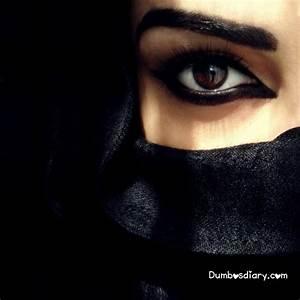 Beautiful eyes girl in hijab veil