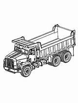 Coloring Truck Dump Printable Trucks Disimpan Dari sketch template