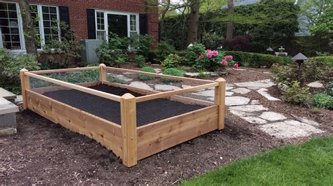 I made raised beds out of composite deck boards. One 3x8x2 Raised Garden Bed with Rabbit Railings Delivered ...