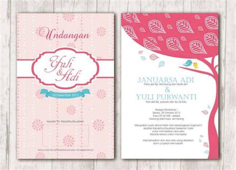 desain kartu undangan pernikahan keren  terbaru