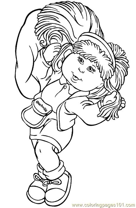 cabbage patch kids coloring page  coloring page