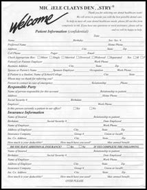 patient forms dr michele claeys dentistry augusta ga