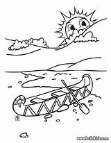 Canoe Coloring Pages Indian Indians Printable Drawing Canoeing Kayak Template Hellokids Sketch Getdrawings Horse Head sketch template