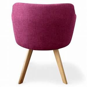 Fauteuil Scandinave Tissu : fauteuil scandinave rigo tissu violet pas cher scandinave deco ~ Teatrodelosmanantiales.com Idées de Décoration