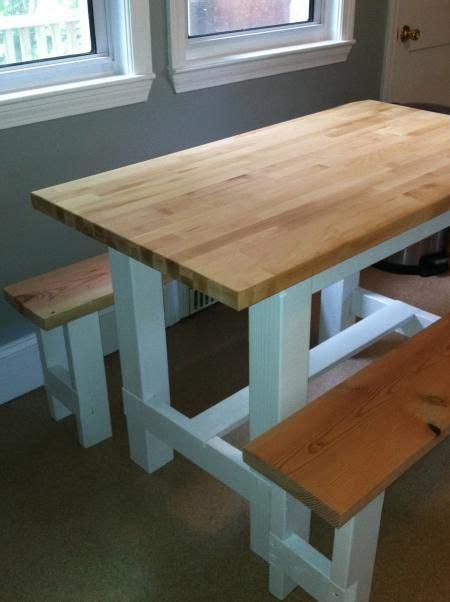 farmhouse table  butcher block  plans  ana