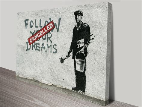 Banksy Follow Your Dreams Street Art Print Australia