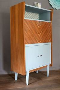 Bureau Secretaire Vintage : secr taire vintage octave les jolis meubles ~ Teatrodelosmanantiales.com Idées de Décoration