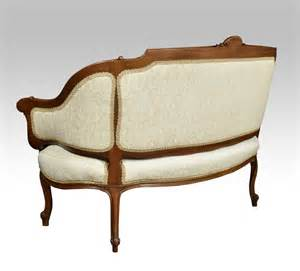 Two Seater Settee by Walnut Framed Two Seater Settee Antiques Atlas